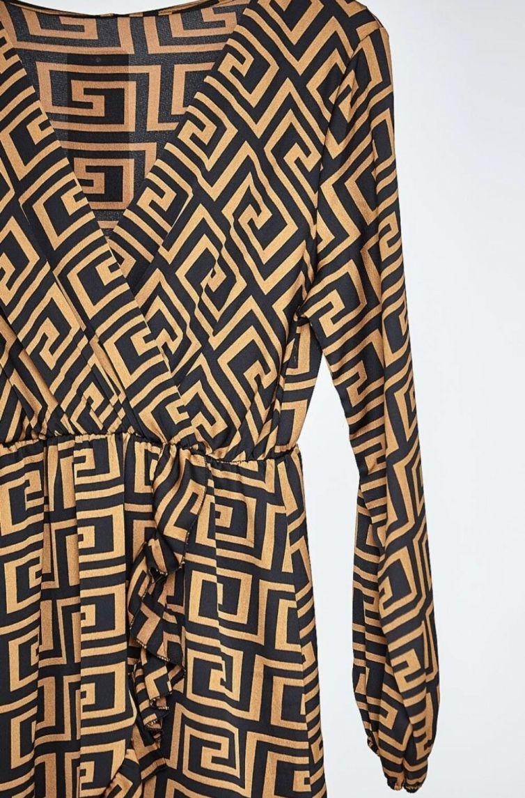 Silky Patterned Dress